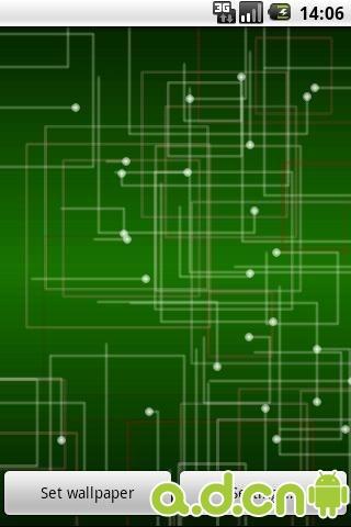 简洁电路动态壁纸_截图