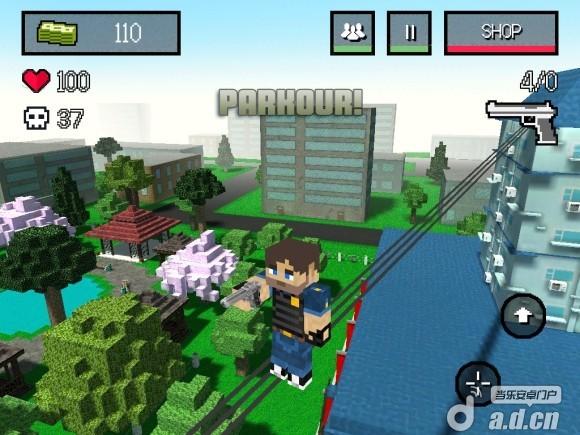 像素城市戰爭修改版Block City Wars v1.1-Android射击游戏類遊戲下載
