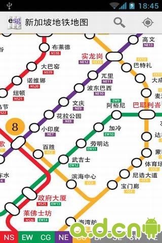 新加坡地铁地图_截图